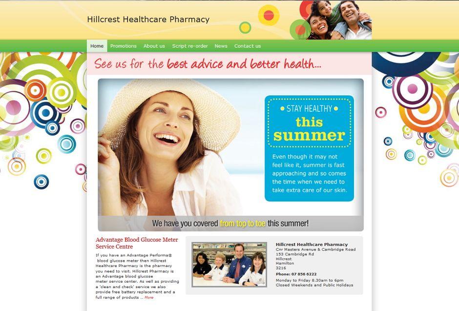 Hillcrest Pharmacy Website Homepage