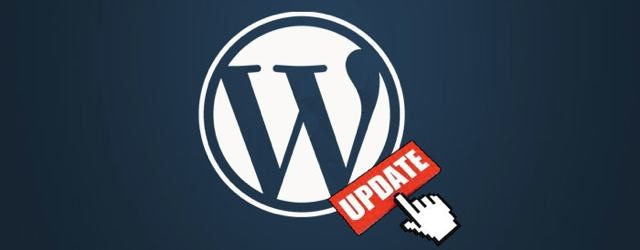 wordpress updates logo with mouse finger