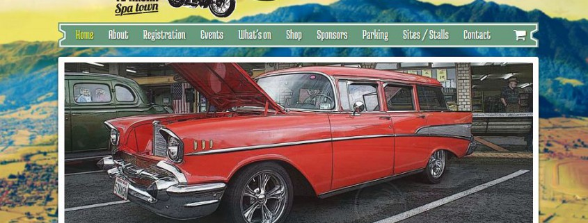 Screenshot of Te Aroha Cruisein website