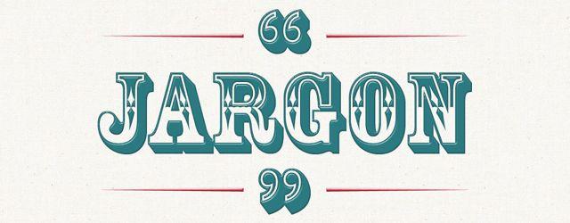 web design jargon in green lettering