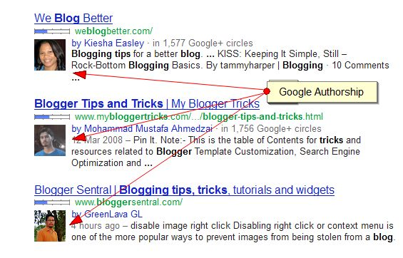google authorship snippets in search