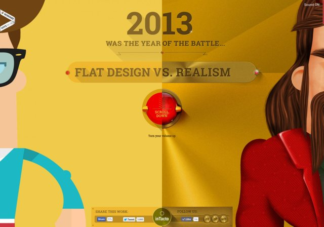 flat web design infographic