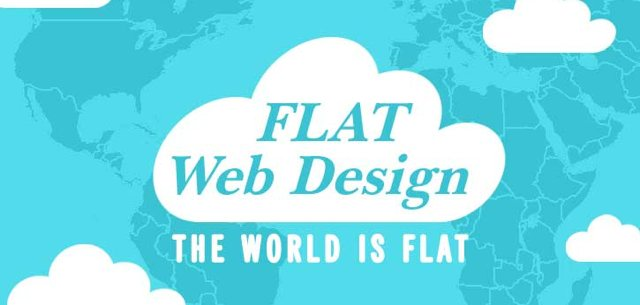 flat web design - the world is flat