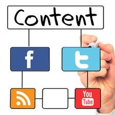 share social media content